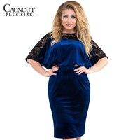 2018 Spring 5XL 6XL Plus Size Lace Dress Women Big Sizes Office Work Patchwork Dress Large