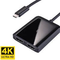 USB Type C to Dual HDMI Converter HD 4K 60HZ USBC Male HDTV Video Adapter Dock Cable for New Macbook Matebook Dell XPS 13 15 Hub