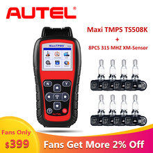 Autel TS508K + 8PCS 315Mhz TPMS Tire Pressure Sensor OBD2 Car Diagnostic Tool Scania tire pressure monitoring Automotive Scanner цена 2017