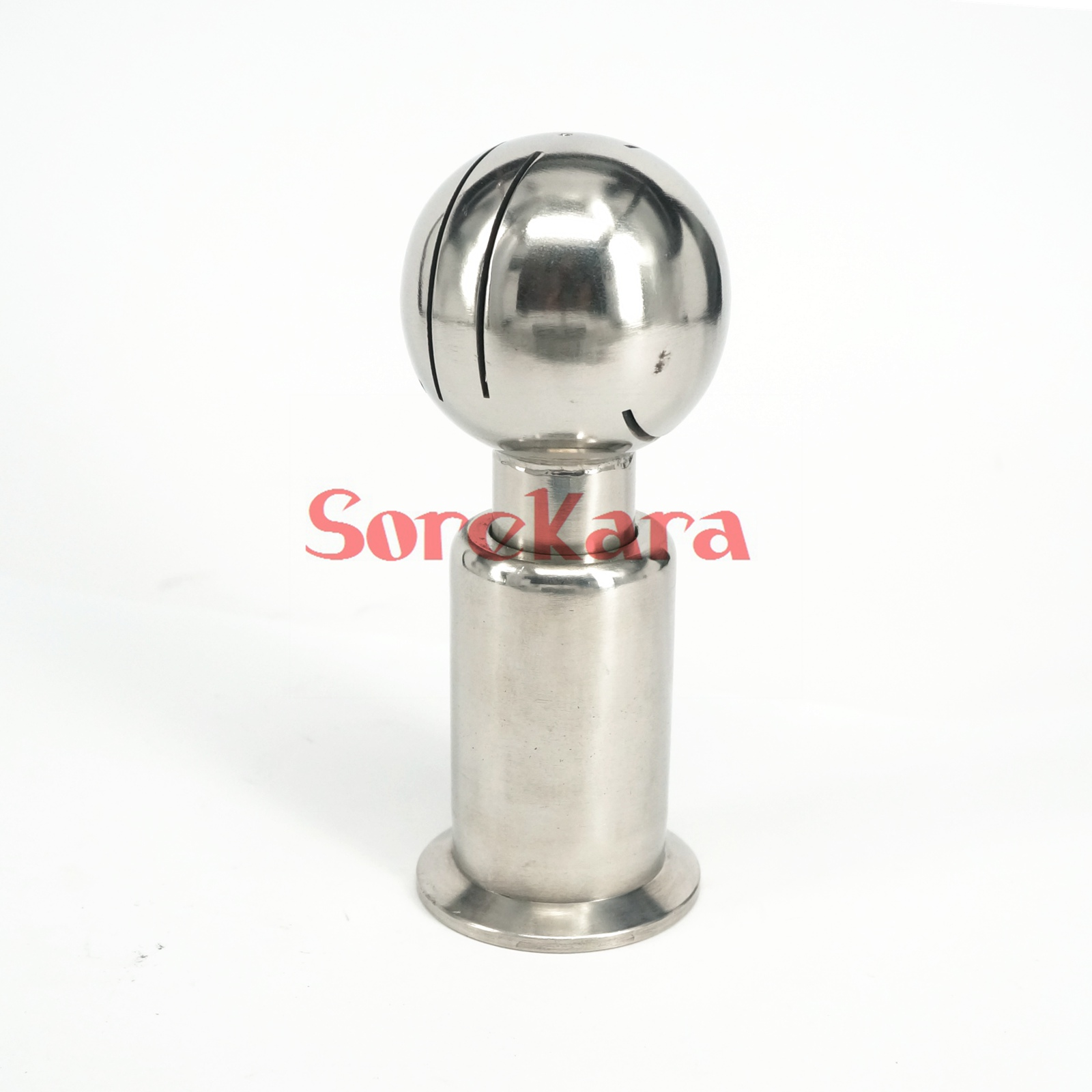 1.5 Tri clamp SS304 Stainless Steel Rotary Spray Ball 50.5mm Ferrule O/D Clamp CIP Tank Cleaning zuczug 1 5 ss304 stainless steel female rotary spray cleaner sanitary nipple rotating cleaning ball nozzle horn washer tank