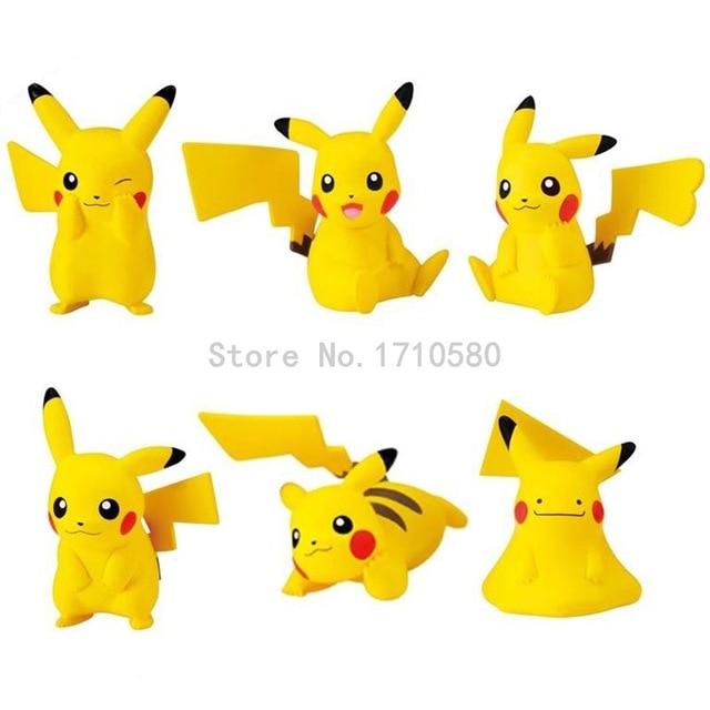 Cute Pikachu Action Figures 60pcs lot Japanese Cartoon Movies PVC Figure Model Sets Doll Kids Toys