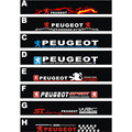 Free shipping Automobile label car Racing stickers for Peugeot Front windshield stickers for front window