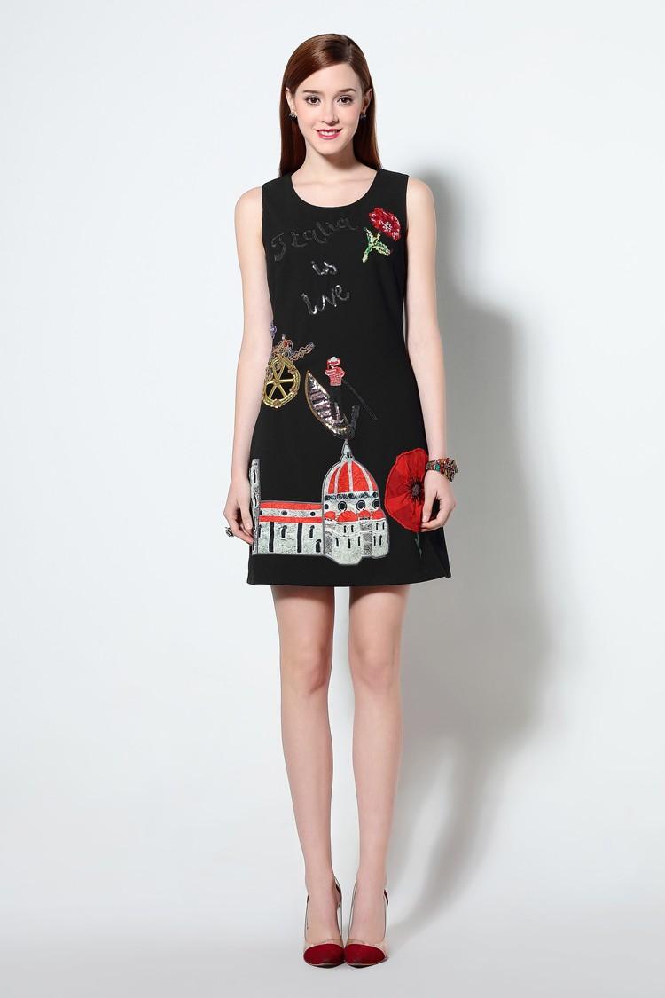 HTB1Yt0 MXXXXXbqXXXXq6xXFXXXW - 2016 г. женские хлопковое платье с вышивкой повседневные платья без рукавов короткое платье футляр черный белый цвет Вязание плюс размер xxl