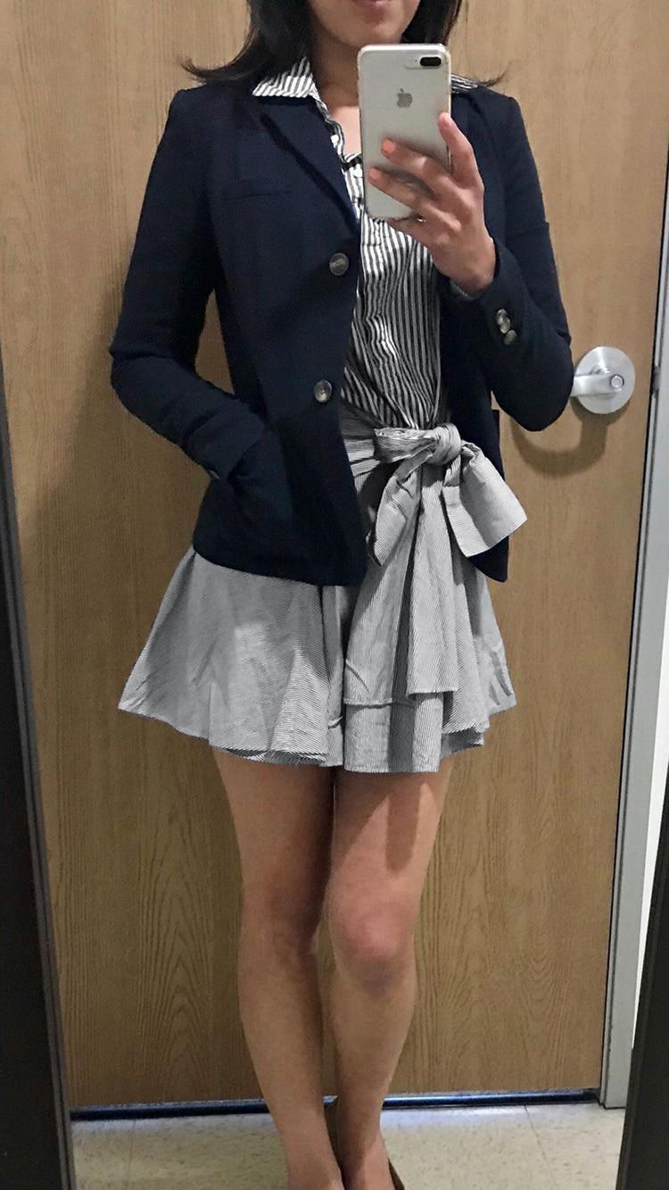 Up Il 2019 Lace Alta Qualità Vestito A Estate Lungo Casual giù Tturn Collare Elegante Sottile Fasciatura Camicia Button Striped Di Manicotto Del Dalla Righe Mini gxPwH