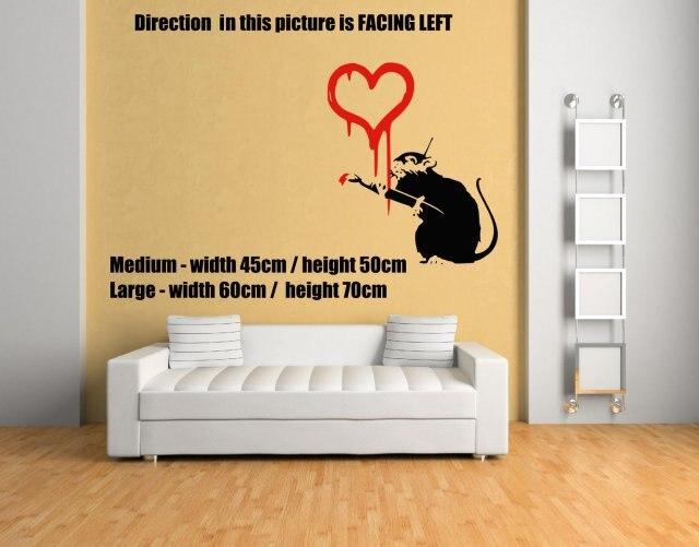 ₪Banksy graffiti Love Rat Wall Sticker. Wall Stickers For Kdis Rooms ...
