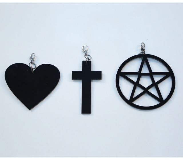 Dark Gothic Witch Five Stars Cross Love Bandage Tie Dress 3