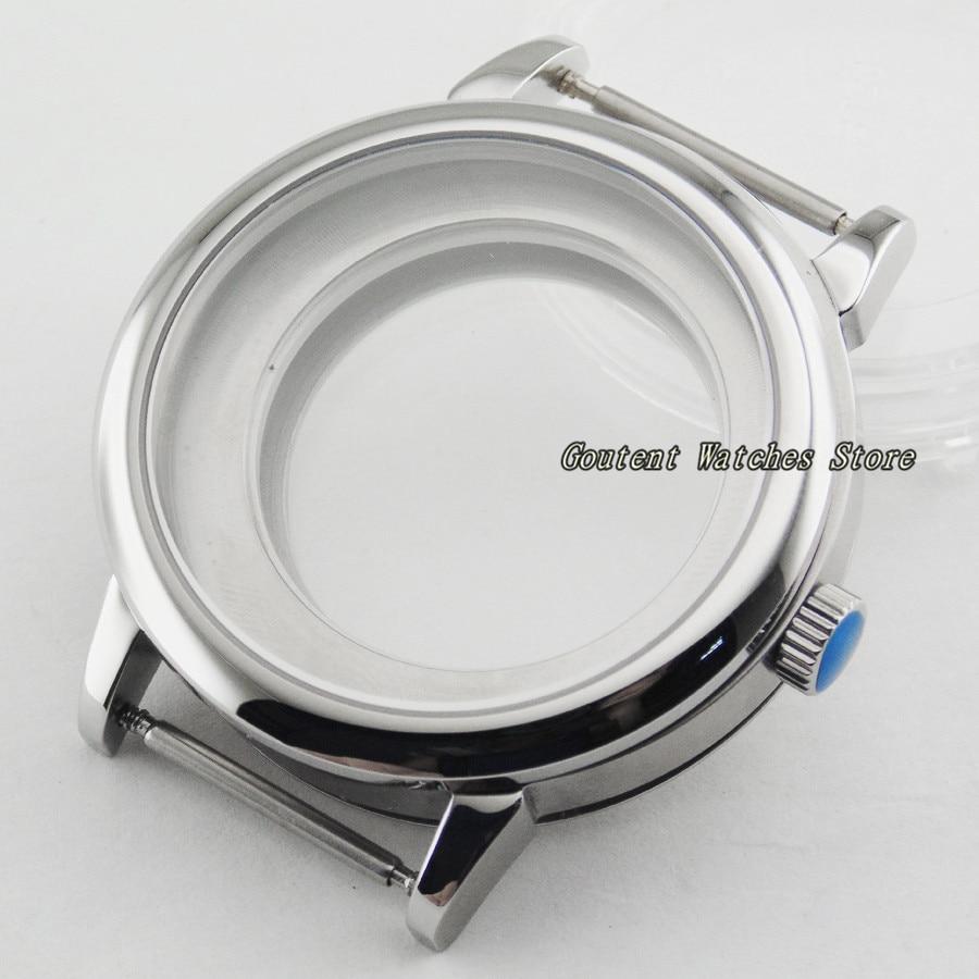 40mm Saphirglas Uhr Fall Fit Miyota 82 Serie, Eta 2836, Dg2813/3804 Armbanduhr Shell Elegante Form