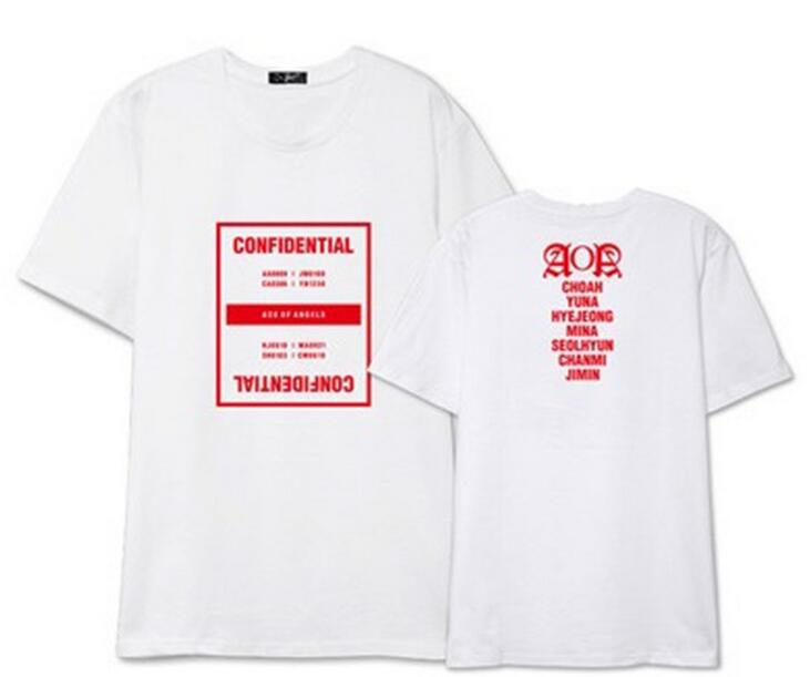 Summer fashion aoa ace of angels seoul concert same all member printing t-shirt kpop o n ...