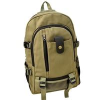 New Arrival Men Backpack Unisex Casual Students Bag Men Preppy Style Solid Zipper Bag Boy Canvas