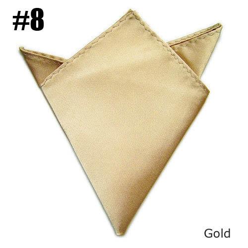Men Pocket Square Gold