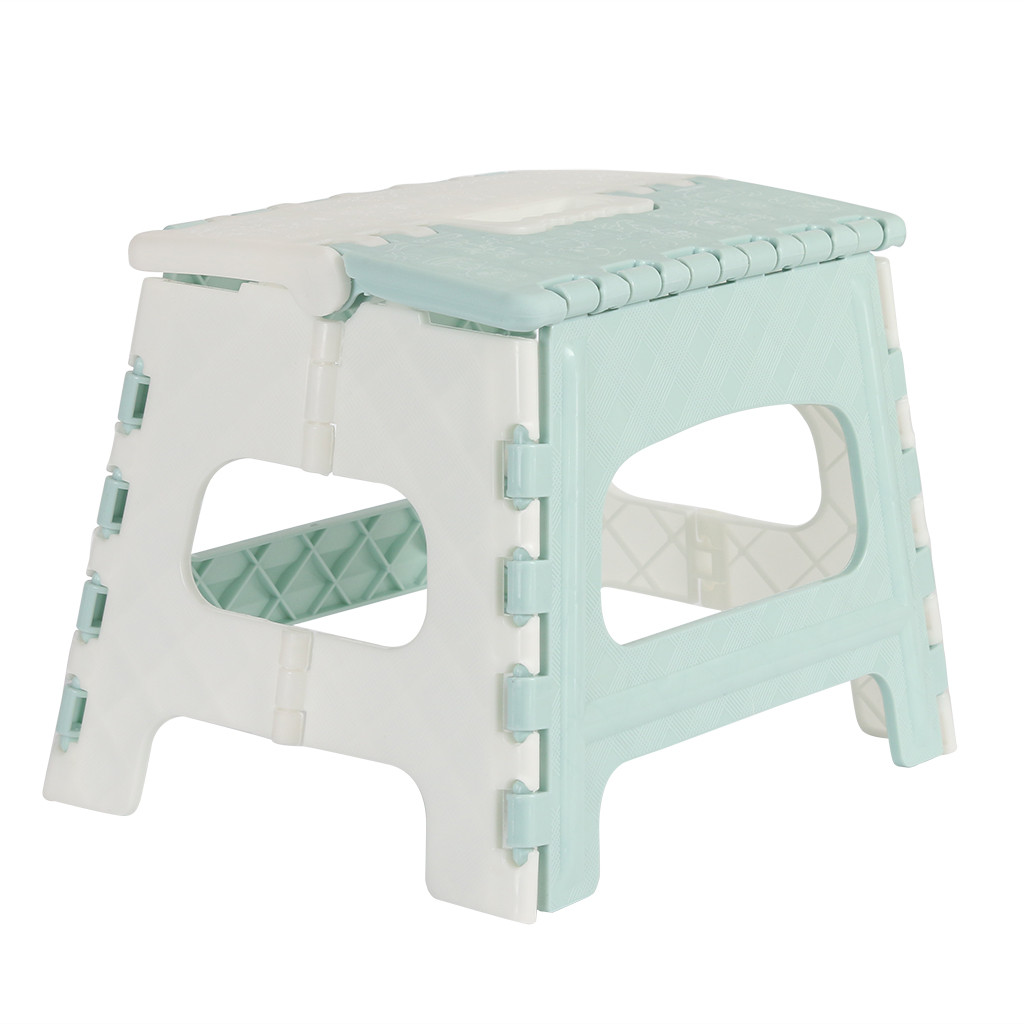 folding stool camping chair seat for fishing Plastic Multi Purpose Folding Step Stool Home Train Outdoor Storage Foldable d90606