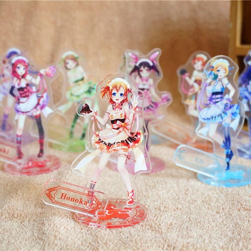 9 pcs set Love Live figure Anime Schoolidolproject lovelive Kotori Eli Nozomi Rin Honoka Umi Acrylic