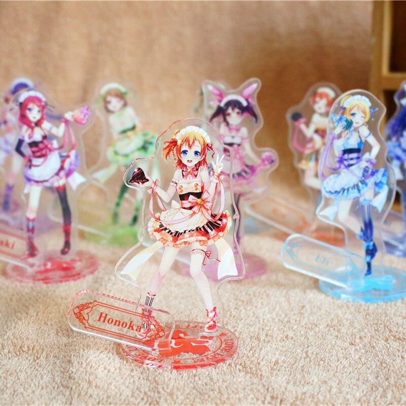 9 pcs/set Love Live action figure Schoolidolproject Kotori Honoka Umi Eli Nozomi Rin Acrylic doll 15cm sex girl free shipping
