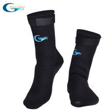 yonsub Stab-resistant Diving Snorkeling equipment 3mm thickening socks non-slip bottom scratch with Velcro