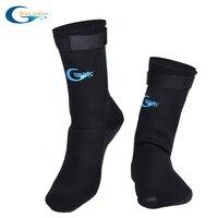 3MM yetişkin tüplü neopren dalış şnorkel çorap çizikler önlemek kaymaz yüzmek çorap siyah dalış çorapları Fin/ plaj kıyafeti