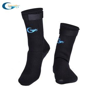 3MM Adult Scuba Neoprene Diving Snorkelling Socks Prevent Scratches Non-Slip Swim Socks Black Diving Socks For Fin/Beach Wear(China)