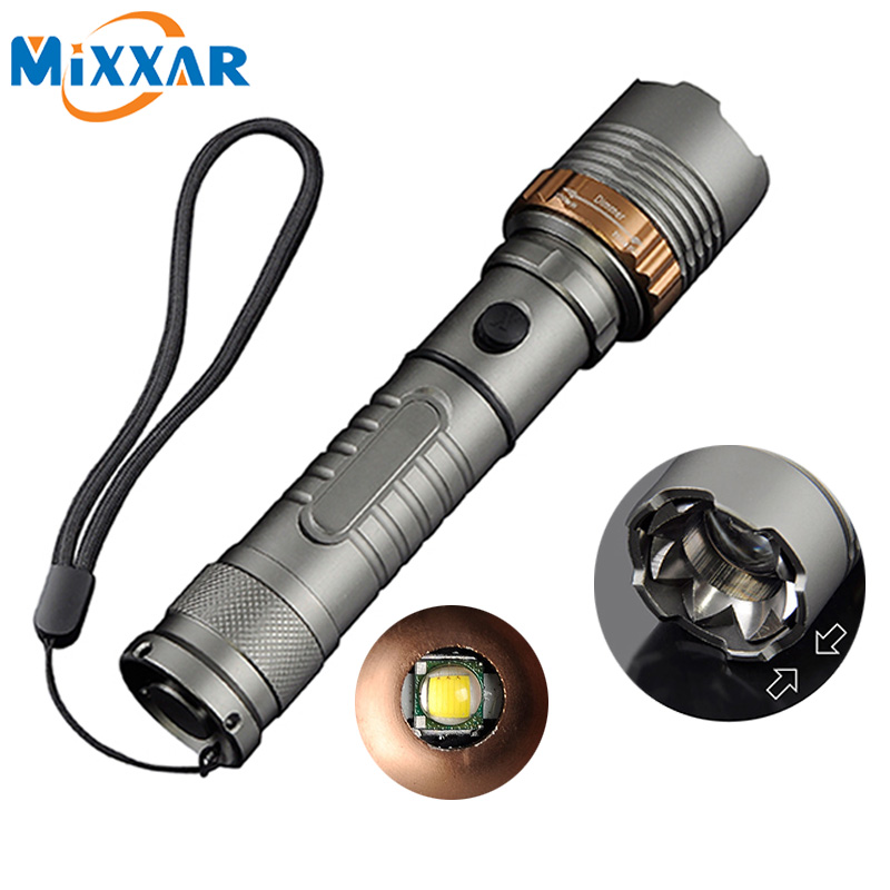 Ezk30 LED Self Defense flashlights Cree XM-L T6 Rechargeable Torch 6000LM Lamps powerful Lantern Tactical Emergency Defensive z50 cree l2 flashlight torch lamp self defense led flash light powerful tactical emergency defensive torch 1battery 1charger