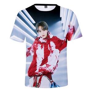 NCT 127 We Are Super Human 3D Футболка с принтом для женщин/мужчин Kpop летние футболки с коротким рукавом 2019 горячая распродажа Повседневная Уличная одеж...