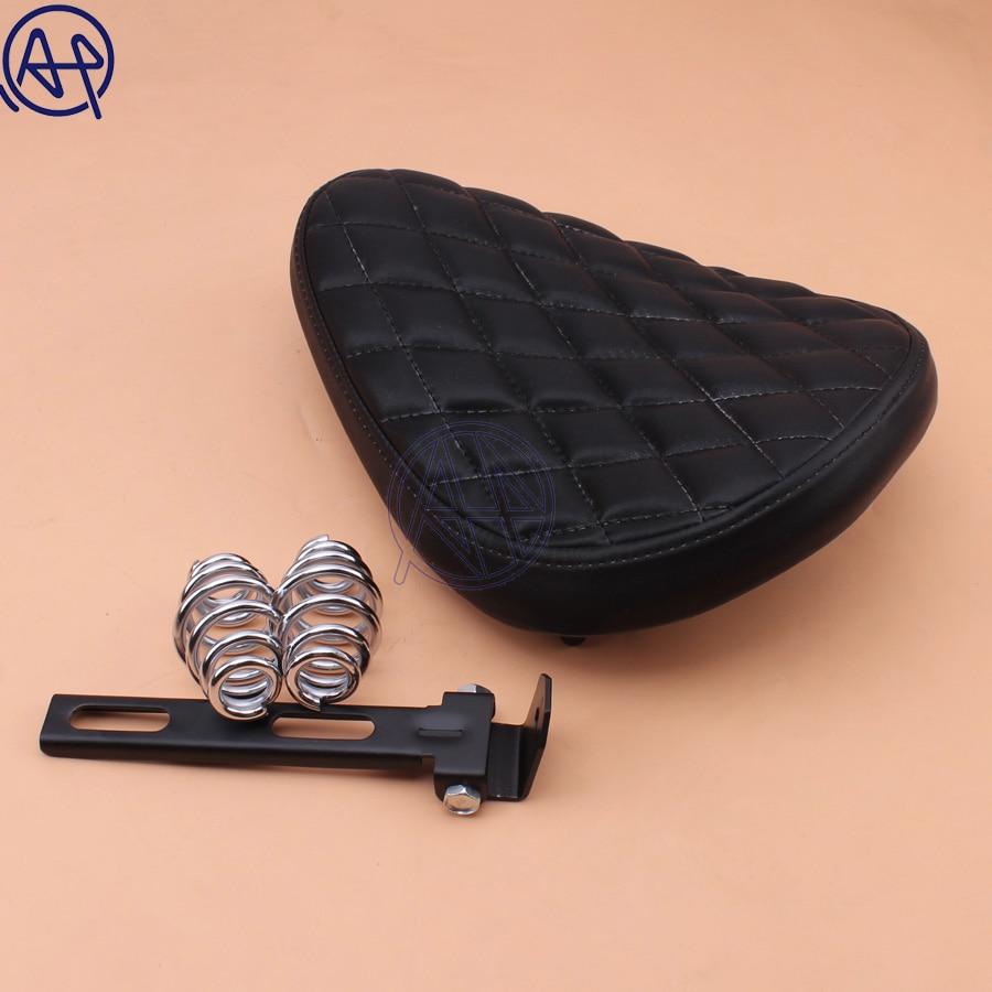 Moto rétro noir cuir ancienne école Solo siège + 3