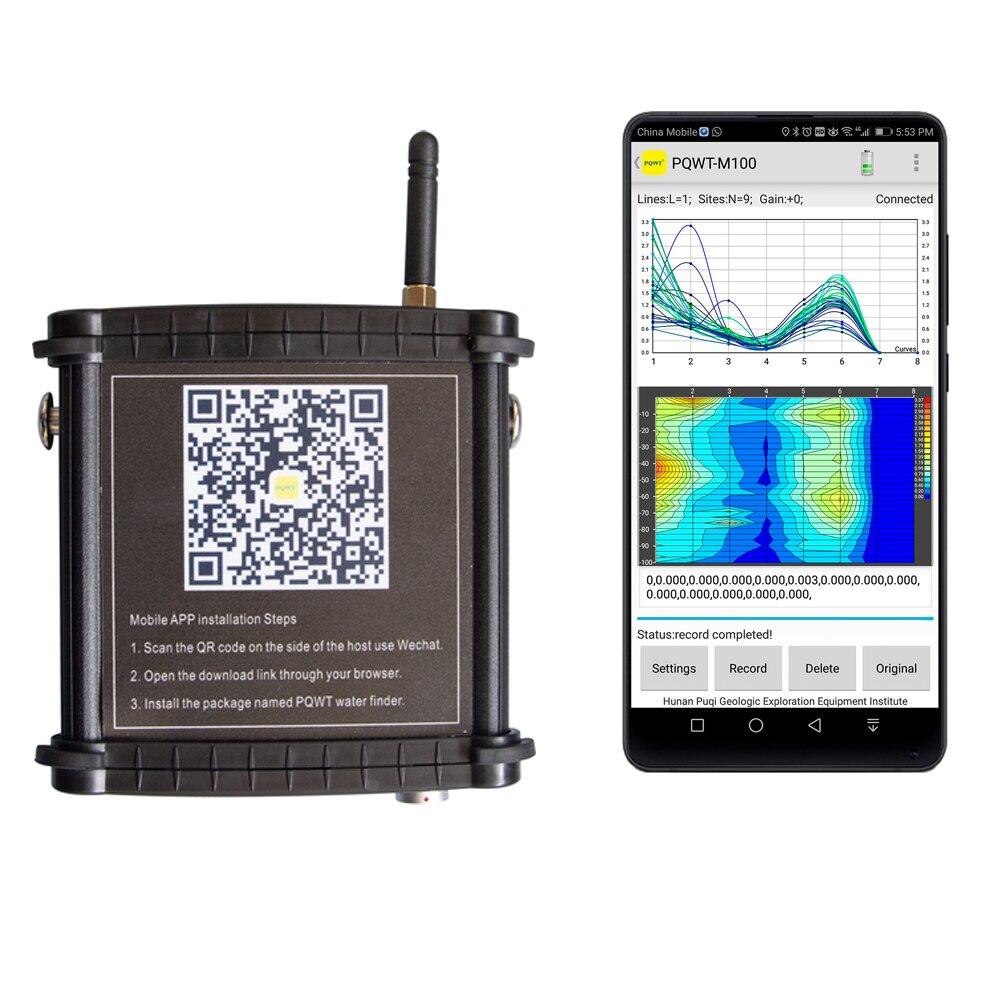 Pqwt M100 100 متر المحمول كاشف المياه الجوفية جهاز كشف المياه العذبة أدوات الكشف الصناعية Naoko