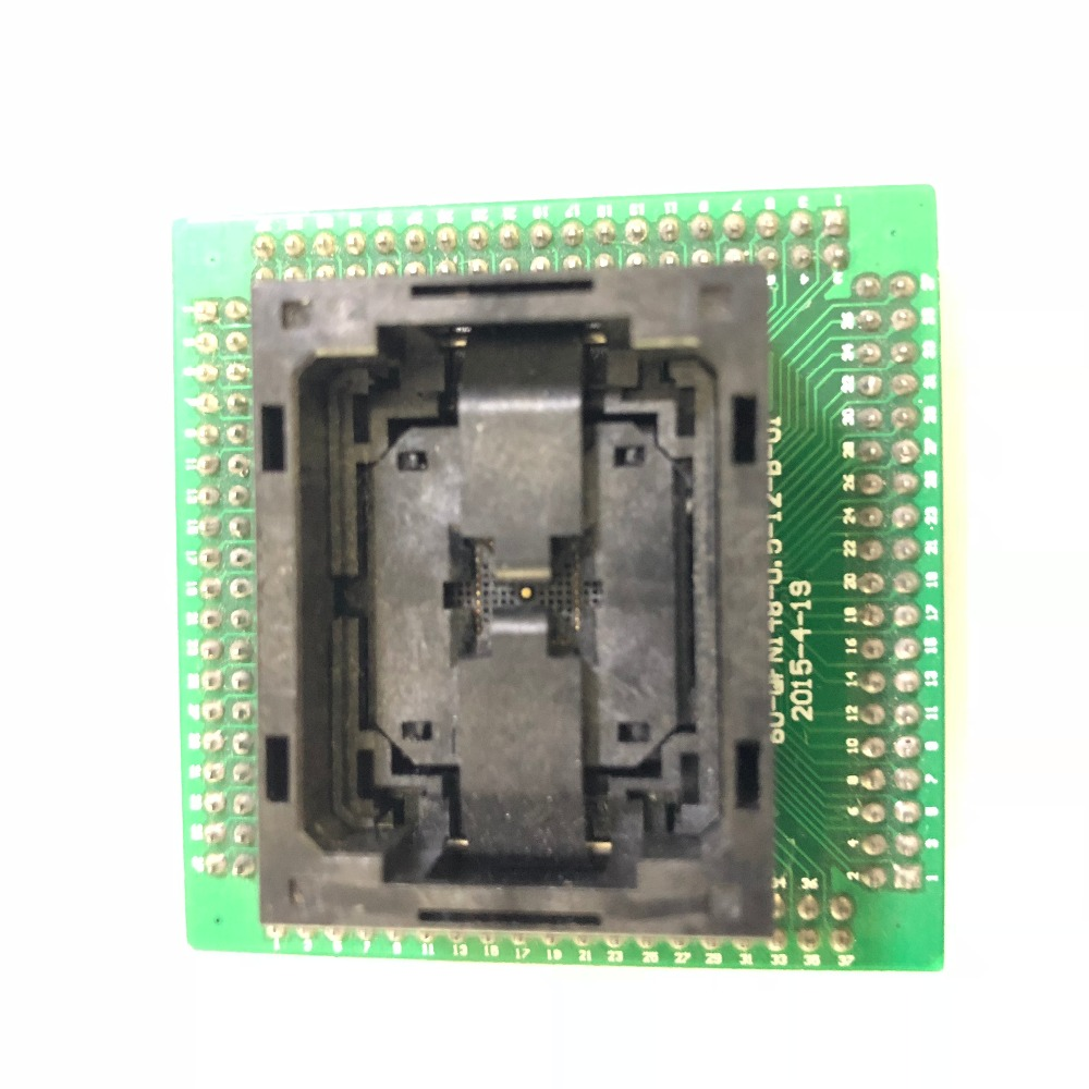 QFN36 MLF36 NP506 036 034 C G IC Test Socket Open top Chip Size 6*6 Flash Adapter Connector Programming Socket ZIF adapter