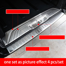 lsrtw2017 stainless steel car trunk protection trims for mercedes benz vito 2014 2015 2016 2017 2018 2019 w447 v-class laete 51391