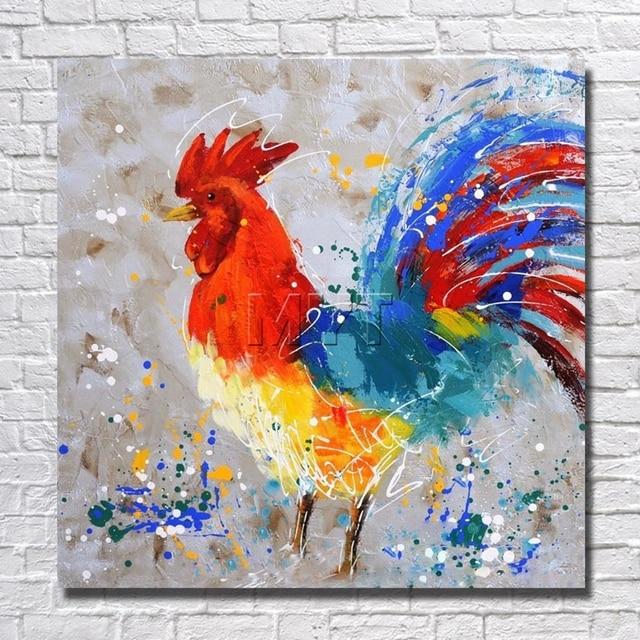 Aliexpress.com : Buy Artist Painted Chicken Wall Art Home Decoration ...