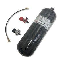Новый черный CRP 162 9.0 30 высокого давления углеродного волокна цилиндр 9L 300bar Пневмопушка пистолет использовать бак для пейнтбола и клапан и пе