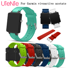 24mm silicone Bracelet Watch Band For Garmin Vivoactive smart Sports Watch Strap watchband accessories replace replacement band infantry soft silicone sports band 24mm rubber watchband waterproof watch strap replacement heavy duty accessories