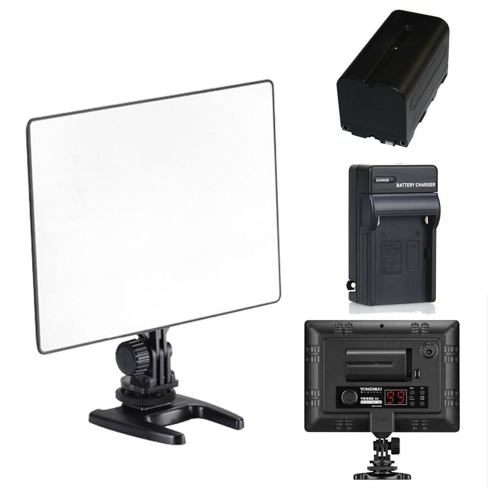 YONGNUO YN300 air YN-300 air yn 300 AIR Pro LED Camera Video Light For Canon Nikon + NP-F550 BATTERY + Charger jjc 3 in 1 stacking grid light modifier system for canon yongnuo black