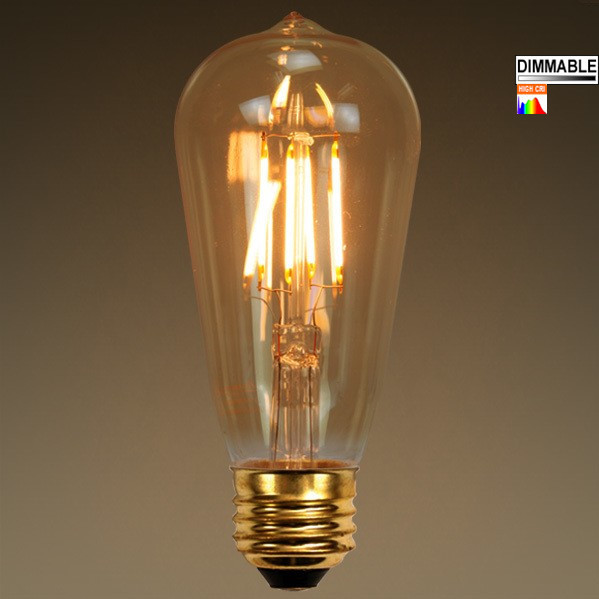 Superb Edison Led 6watt 110v 240v 2200k Warm Glow Dimmabl. Photo Gallery