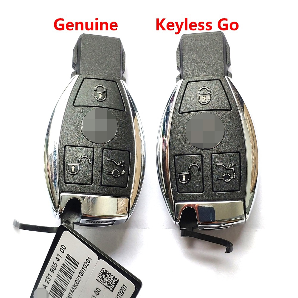 Genuine 434 Mhz 3 Buttons for Mercedes Benz NEC Keyless Go FBS4 version Smart Proximity Key