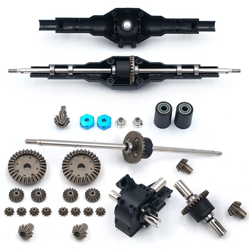O mais novo! Upgrades de Metal Wltoys 12428 12423 12628 RC Carro de Reposição Parte de atualização de metal Conjunto de Engrenagens Diferencial Dianteiro Traseiro 12428-0091/0133