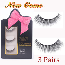 3 Pairs 3D Handmade Thick Mink Eyelashes Natural False for Beauty Makeup fake Eye Lashes Extension-1