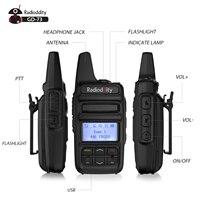 הדרך רדיו Radioddity GD-73 A / E מיני DMR UHF / PMR IP54 USB תוכנית & Charge 2600mAh SMS Hotspot השתמש 2W 0.5W מפתח בהתאמה אישית שני הדרך רדיו (3)
