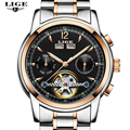 LIGE Mens Watches Top Brand Luxury Male Automatic mechanical Sport Watch Men Casual Fashion Business Clock Man Relogio Masculino