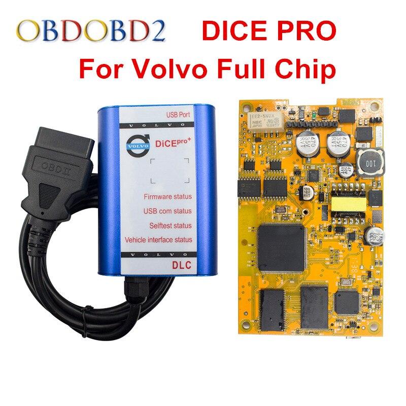 Mais novo Volvo VIDA DICE PRO + Chip 2014D Fimware Atualização & Auto-Teste Completo Para Volvo Scanner com multiLanguage Dice vida Verde