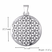 Flower of Life Pendant for Men