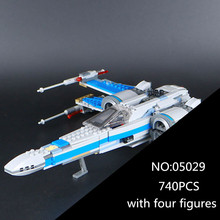 05029 Star Series Wars 740PCS The X Toys Wing Set fighter Set Building Blocks Bricks 75149 Children Toys Gifts