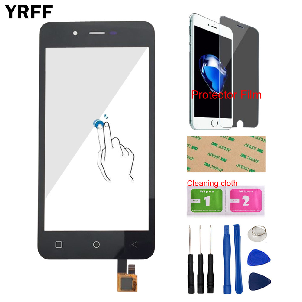 4.7'' Touch For Micromax Canvas Spark Q380 Front Touch Screen Digitizer Panel Glass Lens Sensor Tools + Protector Film Adhesive