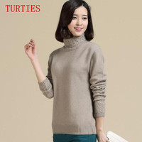 2014 New Women S Sweater Pure Cashmere Pullover 100 Cashmere Turtleneck Shirt Thickening Free Shipping