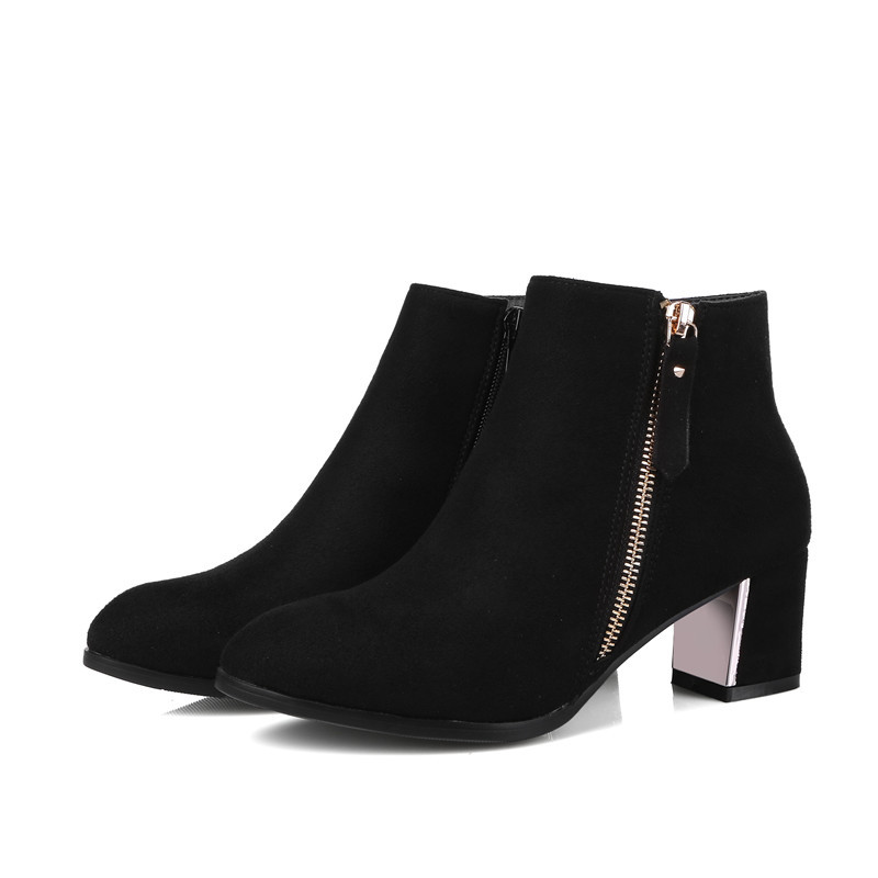 a967d1185a Punta Altos Moda Womens Tamaño Botas Tobillo Tacones De Cremallera Zapatos  Sólido Mujer Venta gris Negro 43 Morazora Caliente Toe 34 Grande 6w87Ewq