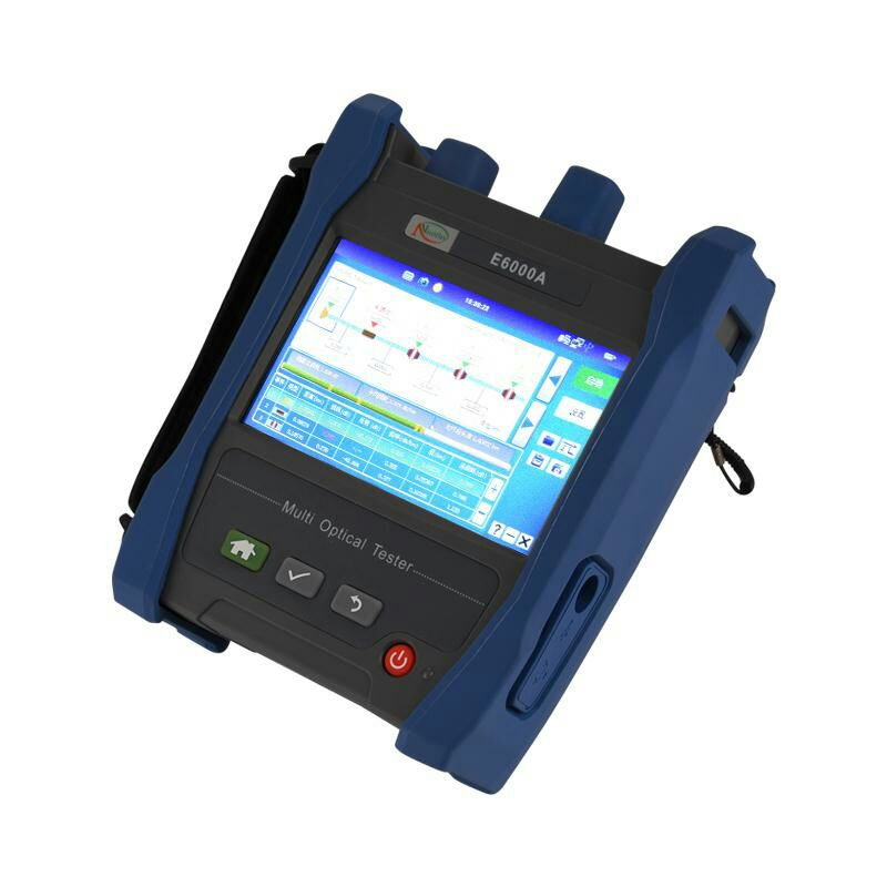 Handheld E6000A OTDR 1310/1550nm SM 60KM Optical Time Domain Reflectometer Integrated VFL 10MW 28/26dB FC/SC Adapter Connector