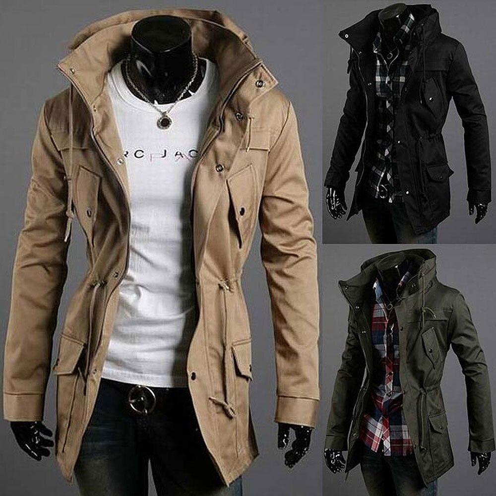 Mens jacket cotton - Aliexpress Com Buy 2015 Men S Turtleneck Trench Coat Men Slim Fit Cotton Jacket Fashion Multi Pocket Casual Long Trench Coats For Men Asia S Xxl From