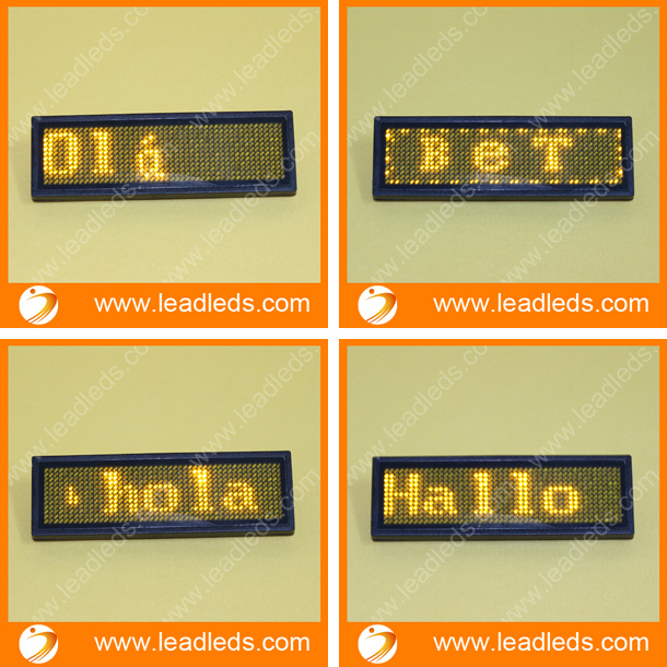 11x44 пикселей программируемый привело бейдж для дисплей led message board