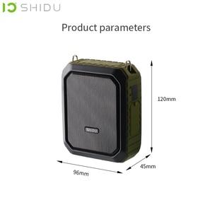 Image 3 - Shidu 18W Draagbare Draadloze Bluetooth Speaker Waterdichte Voice Versterker Met Uhf Microfoon Voor Leraar Ondersteuning Aux Tf Usb Disk