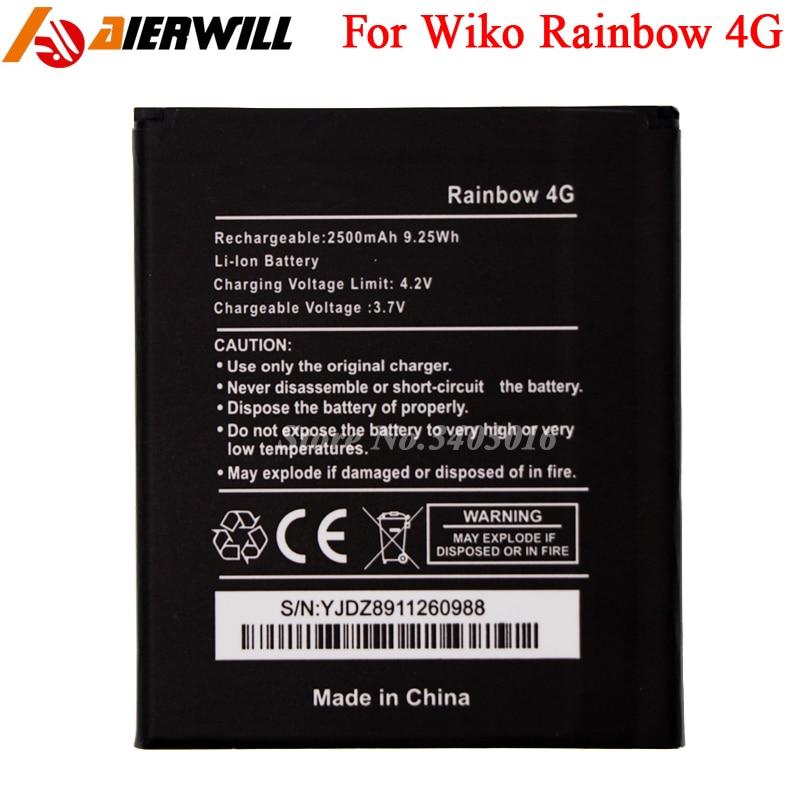 For Wiko Rainbow 4G Battery Batterie Batterij Bateria High Quality 2500mAh