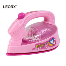 1PCS Electric Iron Innovative Safe Creative Simulation Educational Toy Set Electric Iron for Toddlers Girls Kids(China)