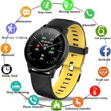 LIGE Sport Smart Bracelet Men Wristwatch Blood Pressure Heart Rate Monitor Fitness Tracker IP67 Waterproof Pedometer Watch
