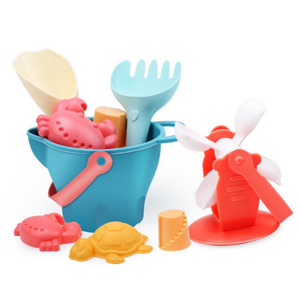 14Pcs Random Color Kids Sand Beach Toys Castle Bucket Spade Shovel Rake Water Tools Set For Kids Toys Good Gift To Kids